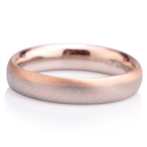 Bi-Colour Wedding Band - 4mm - James Newman Jewellery