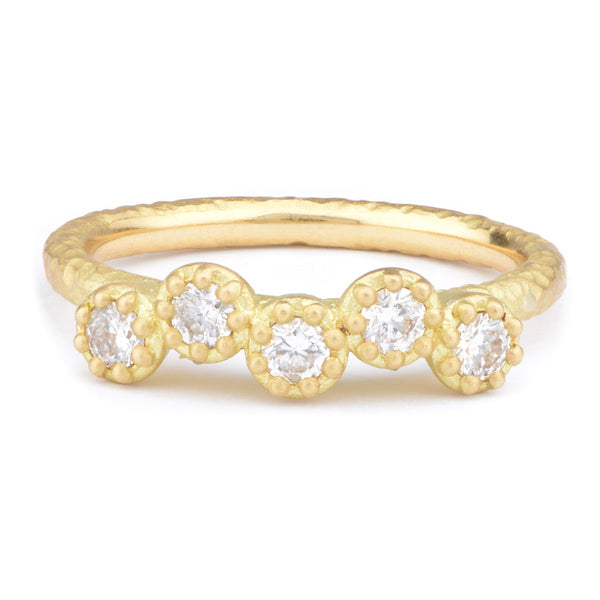 Fiori Offset Part Eternity Ring - James Newman Jewellery