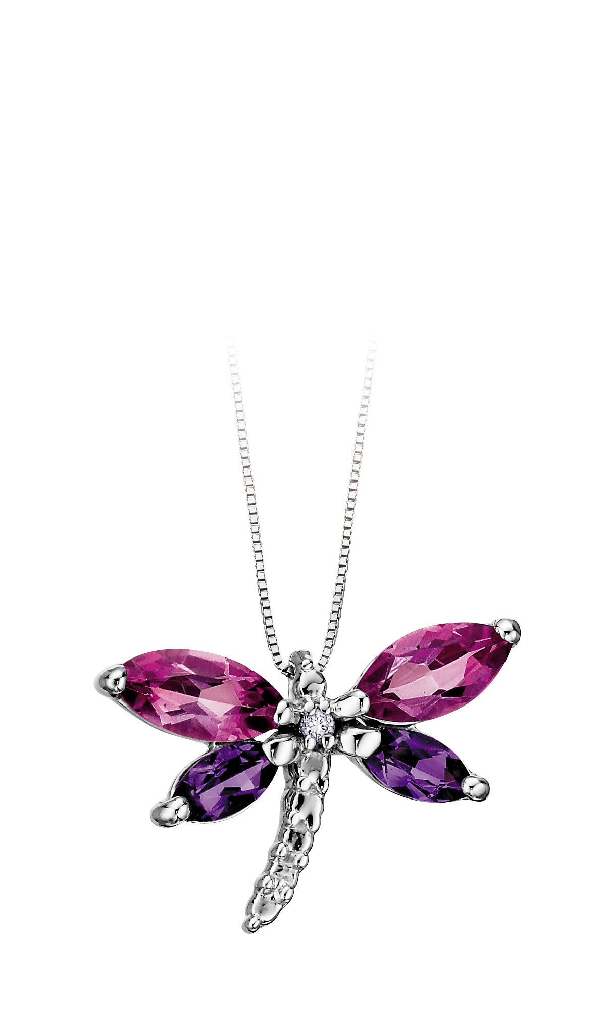 chain on pave co dp of shell dragonfly pendant tuscany jewellery amazon uk silver necklace sterling cm curb inch