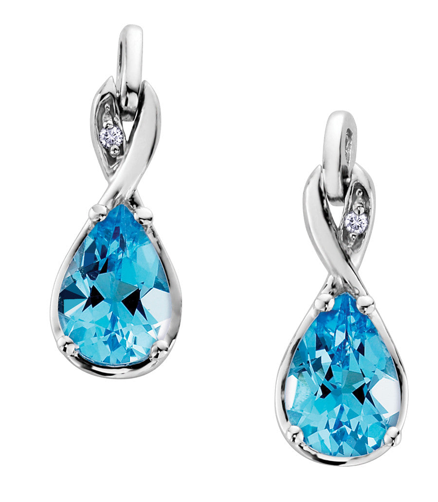 jewellery boutique topaz jewelry image diamond earrings blue modern product