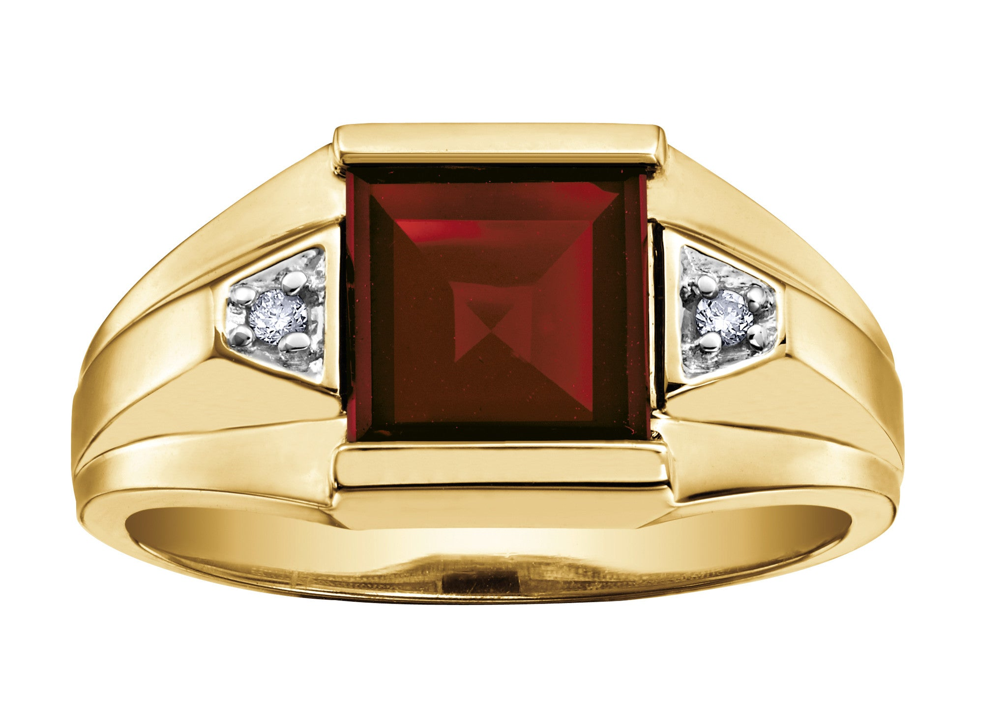 Gents Garnet ring – Burns Jewellers Ltd.