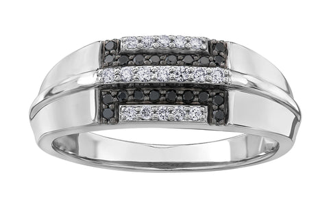 Gents Black Diamond Ring