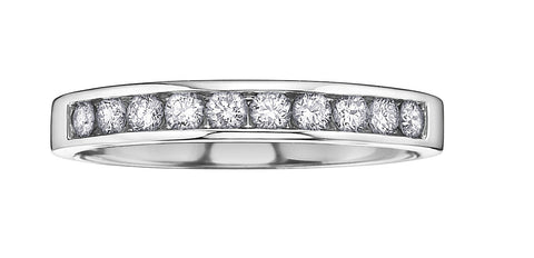 DX552W Diamond band in 10k White Gold