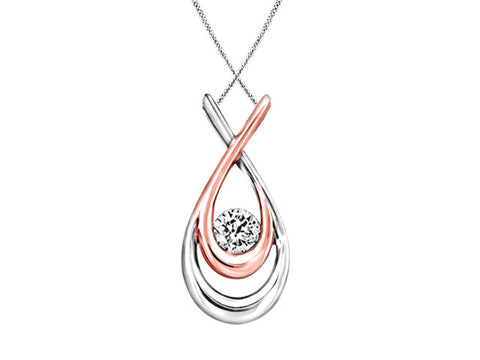 Two Tone Canadian Diamond pendant