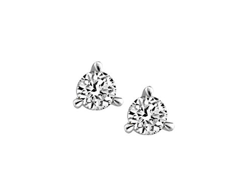 3 claw Canadian Diamond Earrings