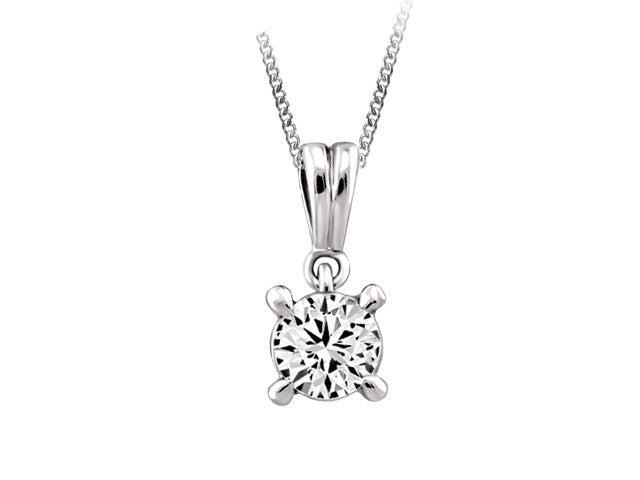 gold in yellow diamond jewelry single charm pendant evergreen set necklace yg solitaire nl bezel