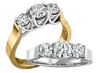 Diamond Trinity Ring Cad1634