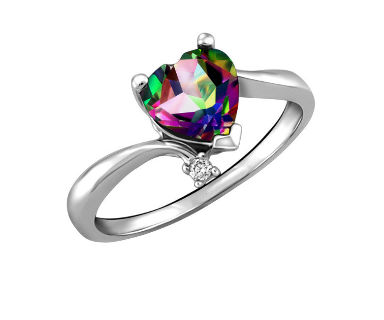 emerald hot engagement natural cut wedding sterling item ring mystic rainbow topaz genuine silver rings fire