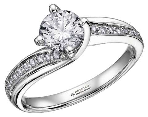 ML105 Canadian Diamond Engagement Ring