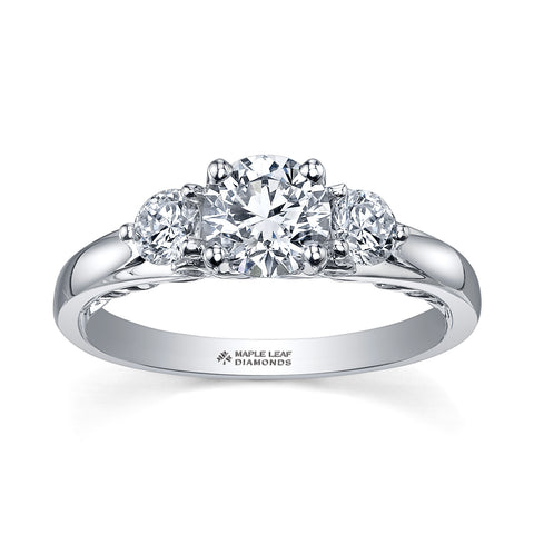 ML199 Canadian Diamond Engagement Ring