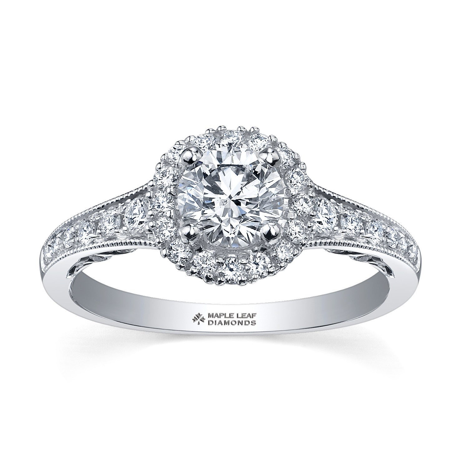 ring in d solitaire round diamond engagement white gold rings ct daimond