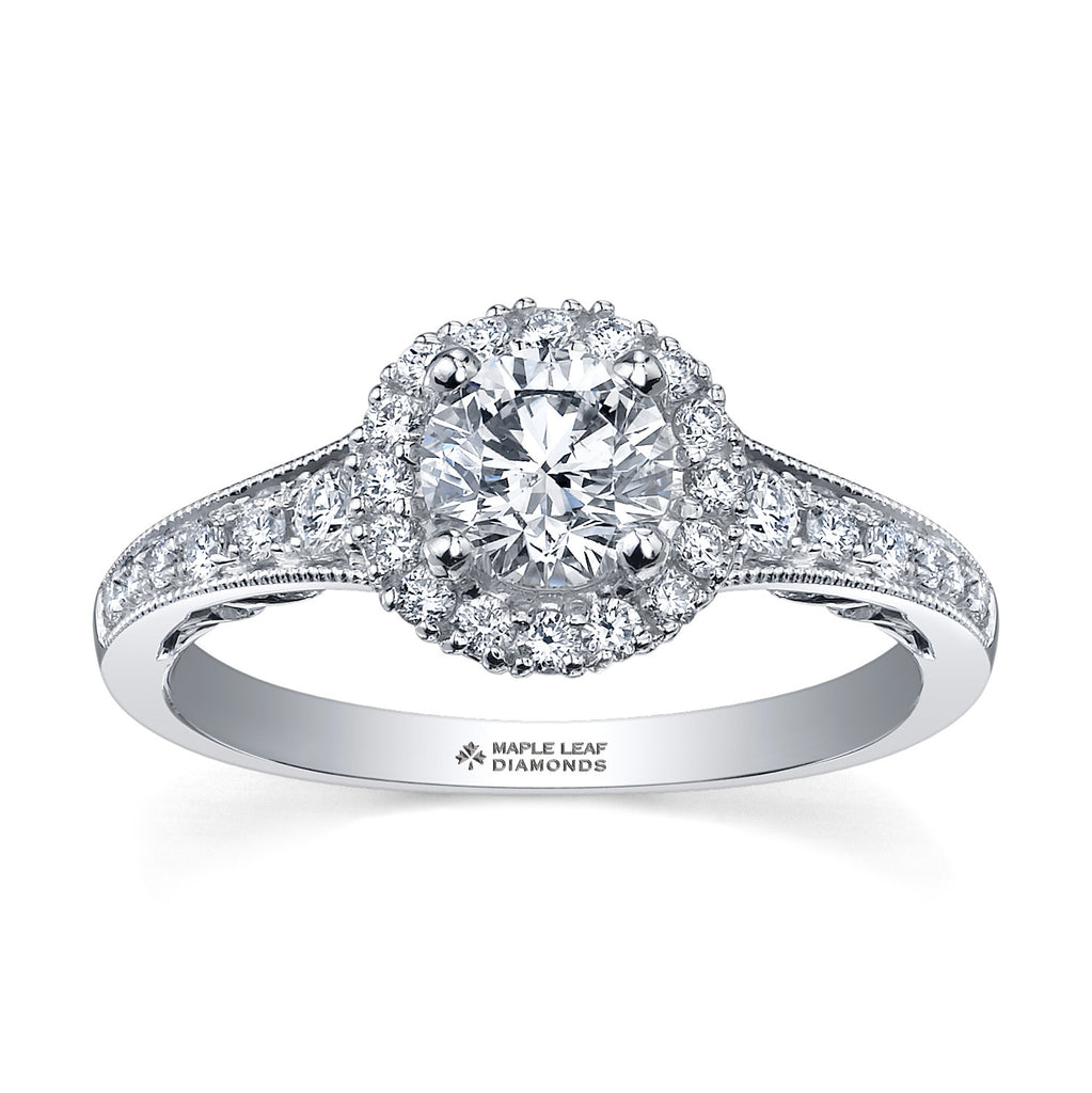 ML204 Canadian Diamond Engagement Ring