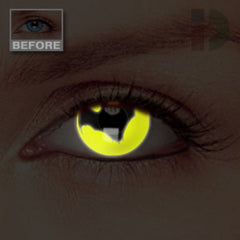 Bat Glow In The Dark Contacts