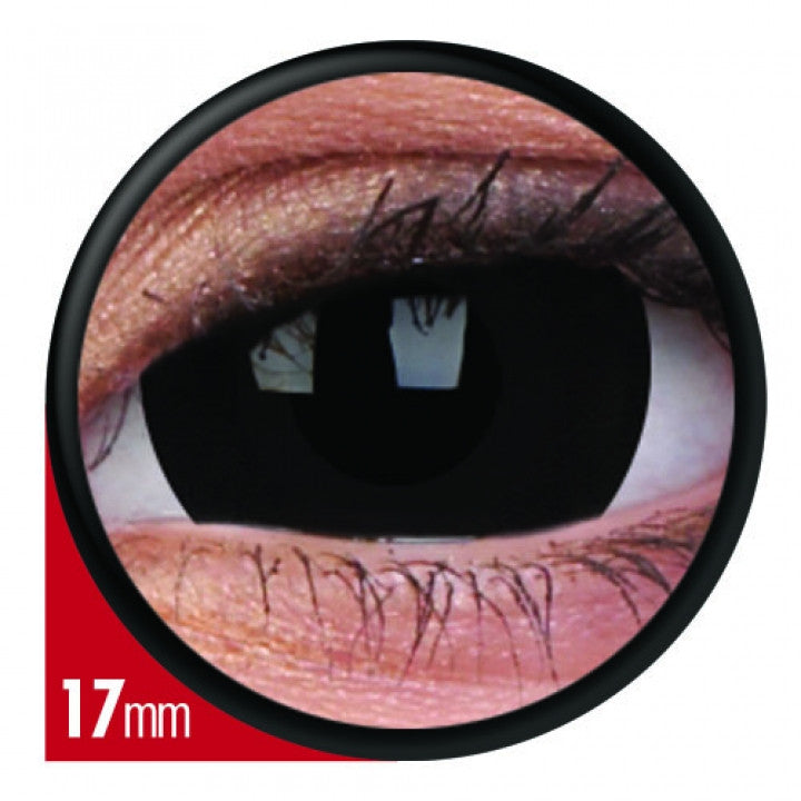Black Mini Scleral Coloured Contacts