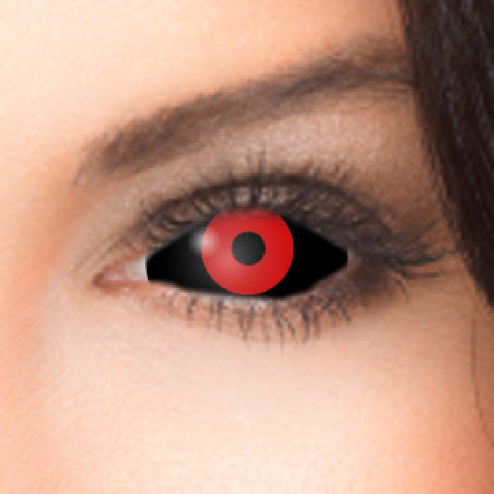 Black Red Scleral Full Eye Coloured Contacts (Gremlin ...