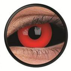 Black Red Scleral Full Eye Coloured Contacts (Gremlin)