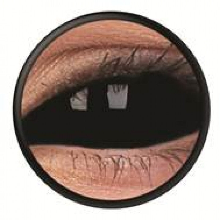 Black Scleral Full Eye Coloured Contacts (SabreTooth)