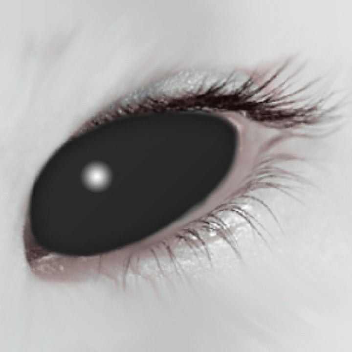 Black Scleral Full Eye Coloured Contacts
