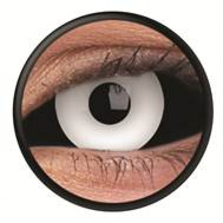 Black White Scleral Full Eye Coloured Contacts (Medusa)