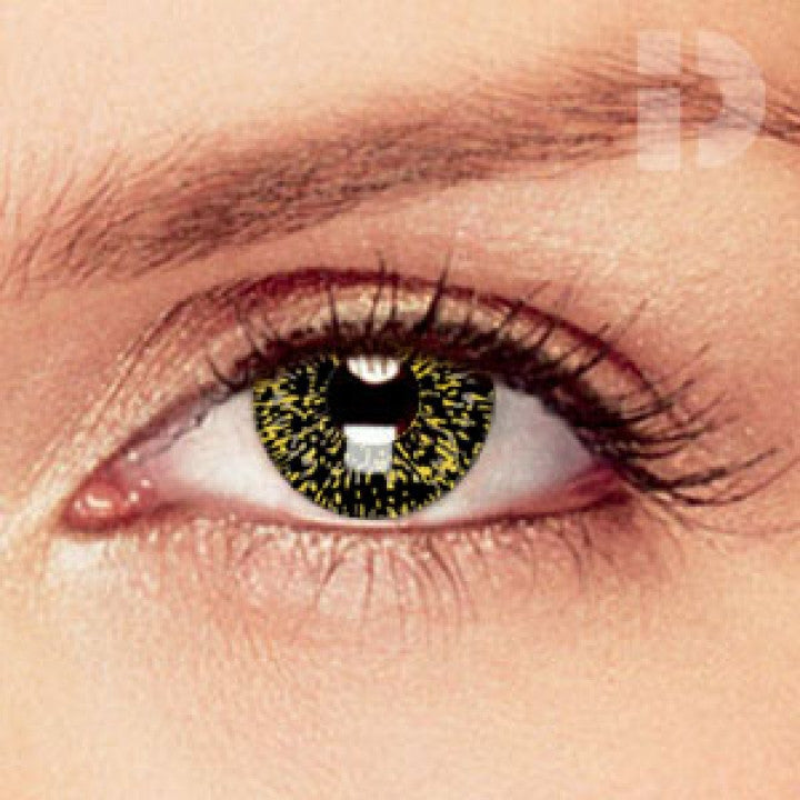 Black/Gold Coloured Contacts