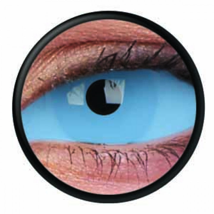 Blue Scleral Full Eye Coloured Contacts (Athena Blue)