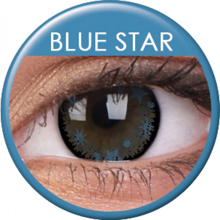 Blue Star Coloured Contacts