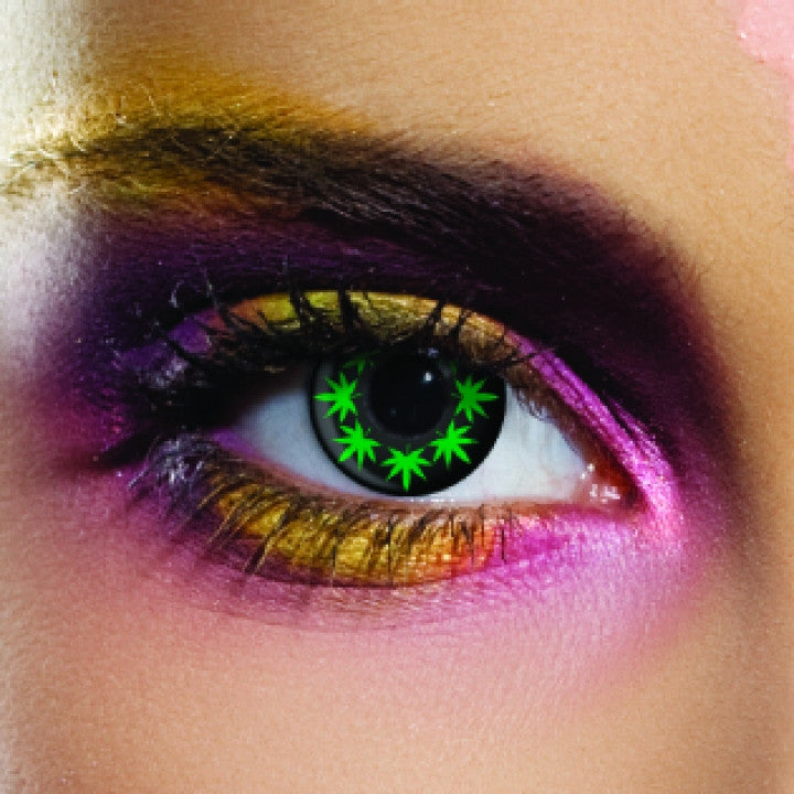 Cannabis Leaf Coloured Contacts