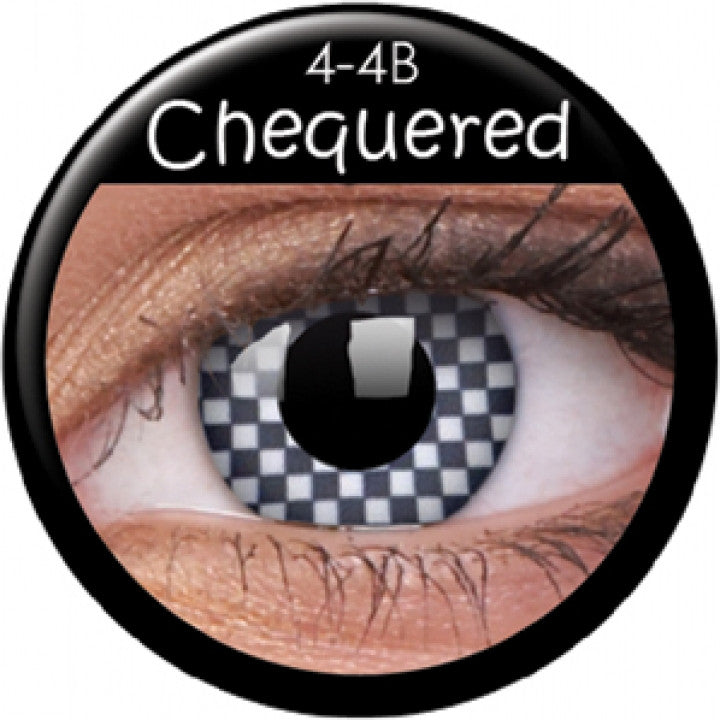 Chequered Coloured Contacts