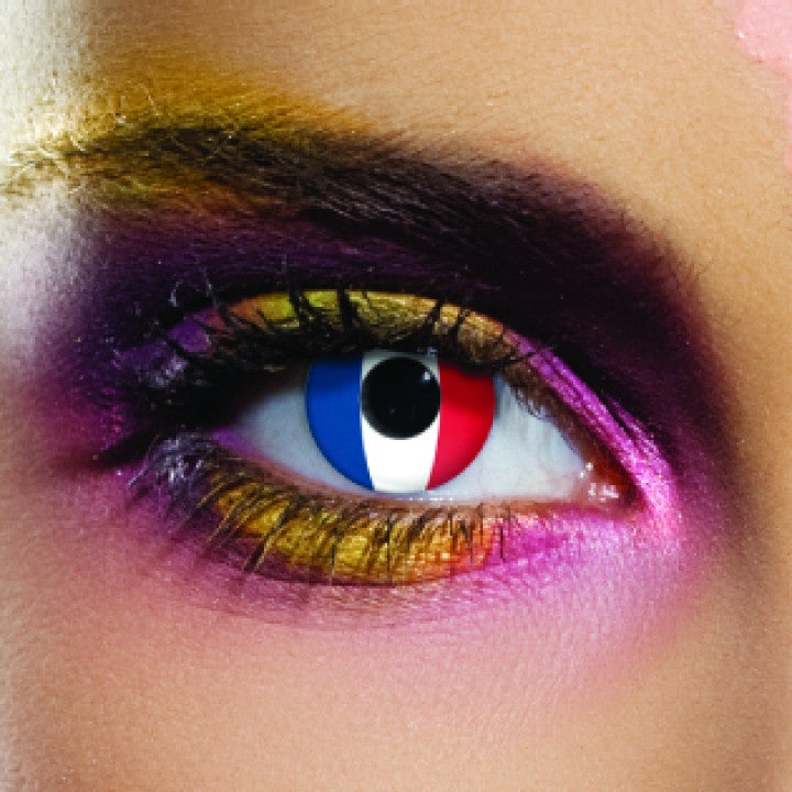 France Flag Coloured Contacts