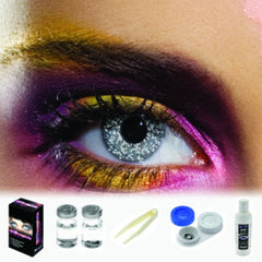 Glimmer Black Silver Coloured Contacts (Kit)