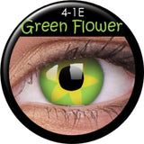 Green Flower Coloured Contacts