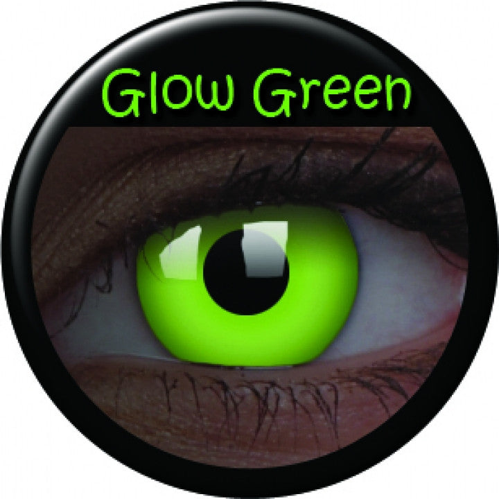 Green Glow Coloured Contacts