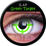 Green Target Coloured Lenses