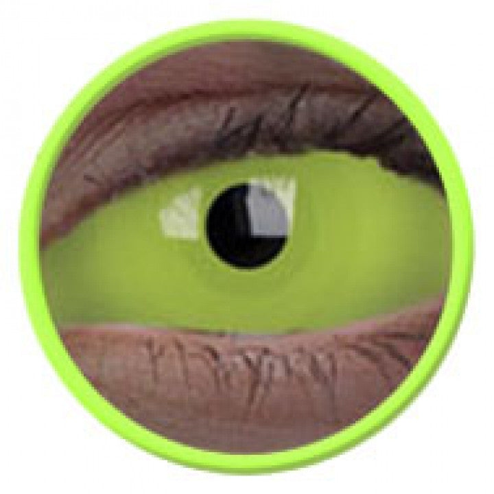 Green UV Glow Scleral Full Eye Coloured Contacts