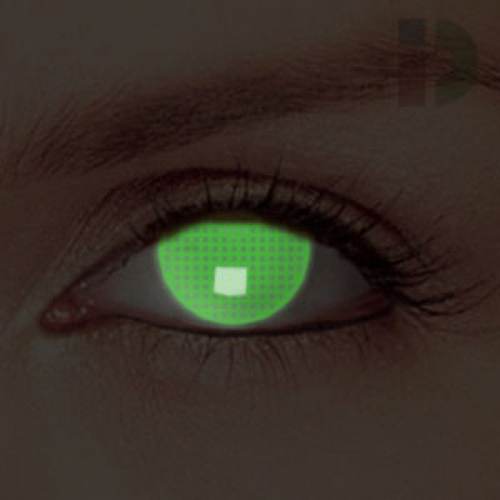 Green Screen Glow In The Dark Contacts