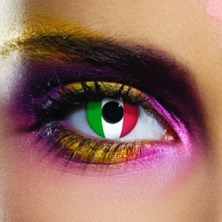 Italy Flag Coloured Contacts
