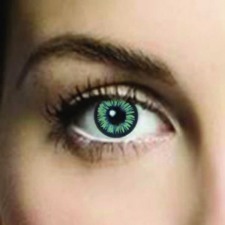 Medina Green Coloured Contacts
