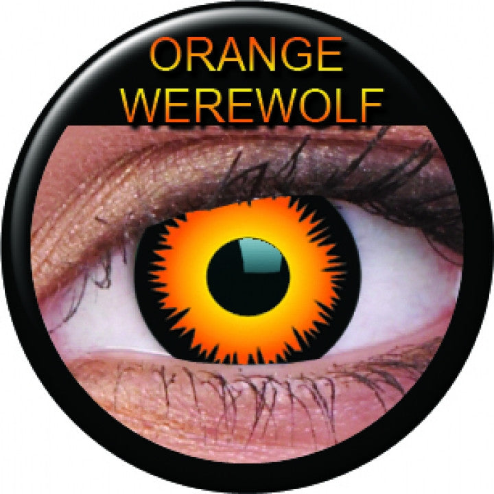Orange Werewolf Coloured Contacts