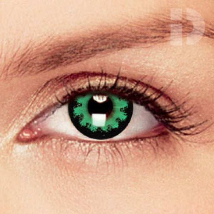 Party Green Coloured Contacts