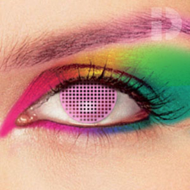 Pink Mesh Coloured Contacts