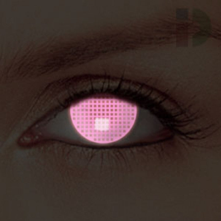 Pink Screen Glow In The Dark Contacts