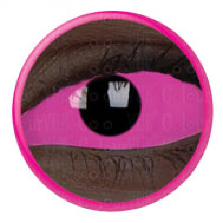 Pink UV Glow Scleral Full Eye Coloured Contacts