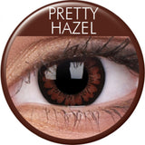 Pretty Hazel Coloured Contacts