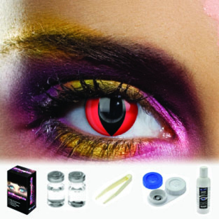 Red Cat Coloured Contacts (Kit)