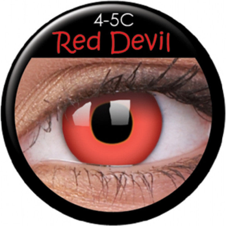 Red Devil Coloured Contacts