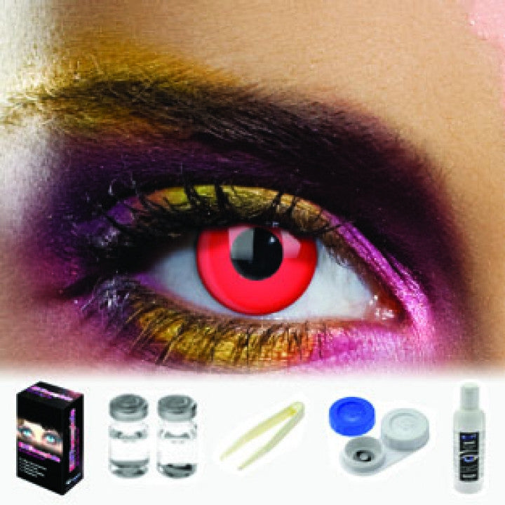 Red Out Coloured Contacts (Kit)