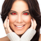 Red Scleral Full Eye Coloured Contacts (Cyclop)