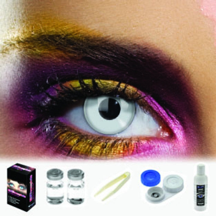Silver Coloured Contacts (Kit)