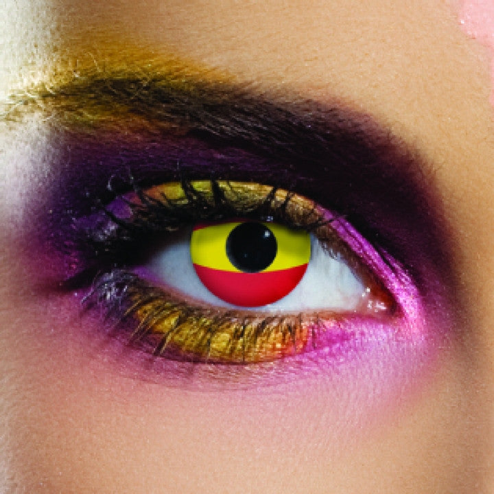 Spain Flag Coloured Contacts