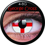 St Georges Cross Coloured Contacts